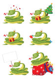 Collection snake. Illustration of a collection snake Royalty Free Stock Image