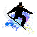 Collection of snowboard, skiers Royalty Free Stock Image