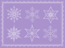Collection snowflake Stock Photos