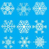Collection of snowflake designs Royalty Free Stock Image