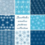 Collection of snowflake patterns Royalty Free Stock Image