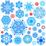 Collection snowflake's Royalty Free Stock Photos