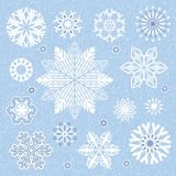 Collection snowflake's Royalty Free Stock Image