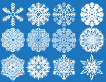 Collection of snowflakes Royalty Free Stock Photo