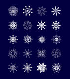Collection of snowflakes Stock Photography