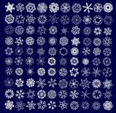 Collection of snowflakes Stock Photo
