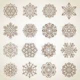 Collection of snowflakes Royalty Free Stock Images