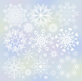 Collection of snowflakes. (set of snowflakes) illustration Royalty Free Stock Images