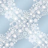 Collection of snowflakes. (set of snowflakes) illustration Stock Photo