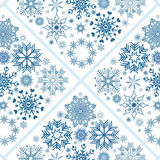 Collection of snowflakes. (set of snowflakes) illustration Royalty Free Stock Image