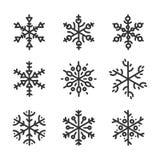 Collection snowflakes Stock Photo