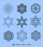 Collection of  snowflakes Royalty Free Stock Photography