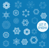 Collection of  snowflakes Stock Photos