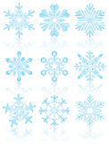 Collection of snowflakes, vector Stock Photos