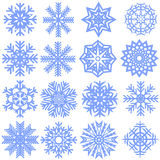 Collection of snowflakes. Vector illustration Royalty Free Stock Photography