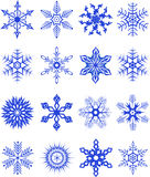 Collection of snowflakes3. Vector illustration Royalty Free Stock Photo