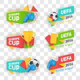 Collection of soccer cup badges. Stock Image