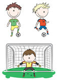 Collection of Soccer Players Stock Photo