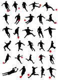Collection of soccer vector Royalty Free Stock Image