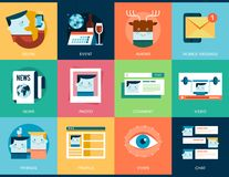 Collection of social media concept banners Royalty Free Stock Images