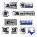 Collection of Social network elements for web design Royalty Free Stock Photos