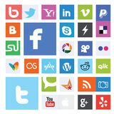 Collection of Social Network Logos Royalty Free Stock Image
