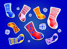Collection of socks Royalty Free Stock Photos
