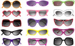 Collection of solar glasses stock illustration