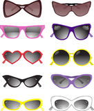 Collection of solar glasses. Vector illustration stock photo