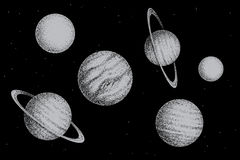 Collection of solar system planets Stock Image