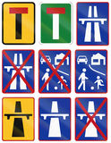 Collection of South African regulatory road signs Royalty Free Stock Photos