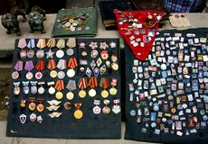 Collection of soviet medals and badges