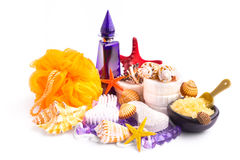 Collection of spa and bodycare cosmetics Stock Photo