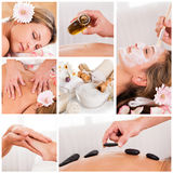 Collection of spa images Royalty Free Stock Image