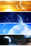 Collection space banners vector illustration