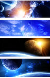 Collection of space banners Stock Photos