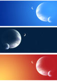 Collection of space banners Royalty Free Stock Photography