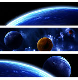 Collection of space banners Royalty Free Stock Photos