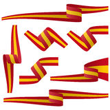 Collection of spanish country flag banners Royalty Free Stock Photos