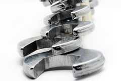 Collection of spanners Stock Images