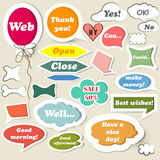 Collection of speech baubles for web design Royalty Free Stock Photo