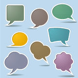 Collection Speech Bubbles Stock Photos