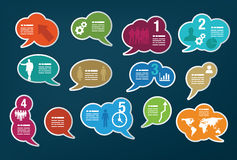 Collection of speech bubbles Stock Image