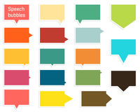 Collection of speech bubbles Royalty Free Stock Photography