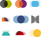 Collection of sphere vector logo set Royalty Free Stock Images