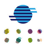 Collection of sphere vector logo set Royalty Free Stock Photo