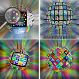 Collection of spheres Stock Photography