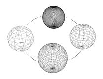 Collection of spheres. Vector illustration Royalty Free Stock Photography