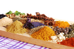 Collection of spices Royalty Free Stock Image