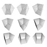 Collection of split cubes. Collection of abstract split cubes Royalty Free Stock Image